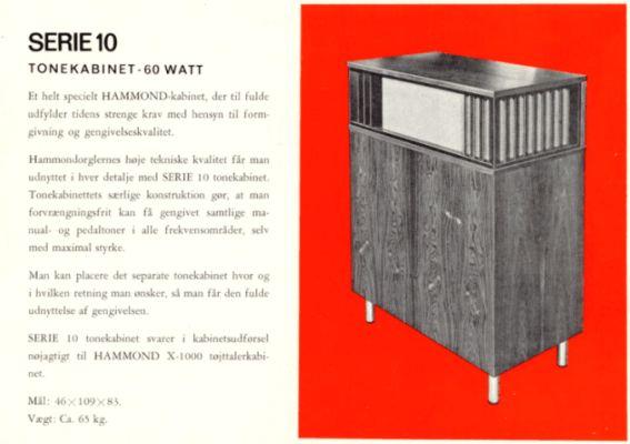Etonnant Hammond Series 10 Tone Cabinet